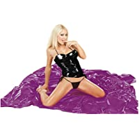 Purple vinyl bed sheet