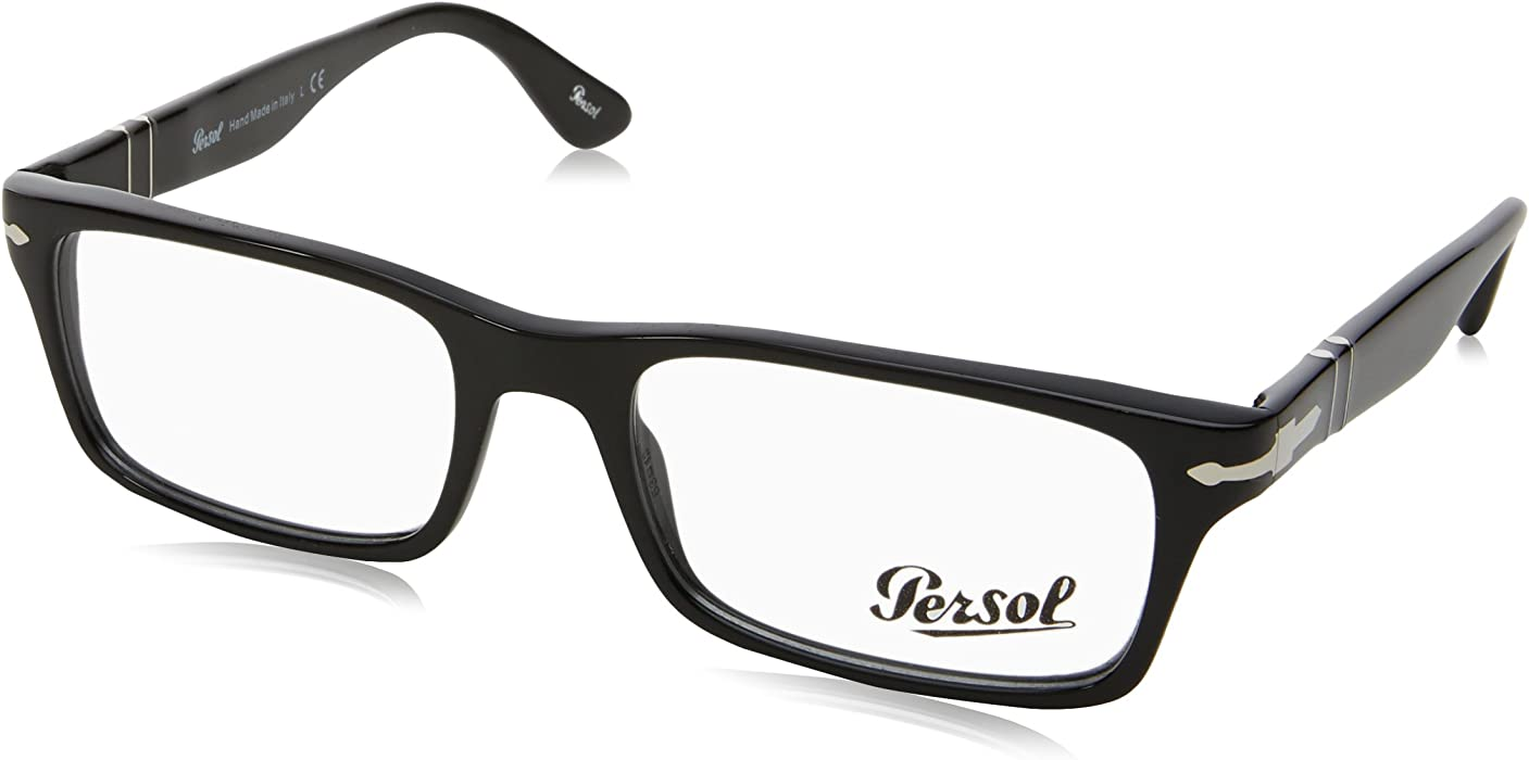 457940eb8e Amazon.com  Persol PO3050V Eyeglasses-95 Black-53mm  Shoes