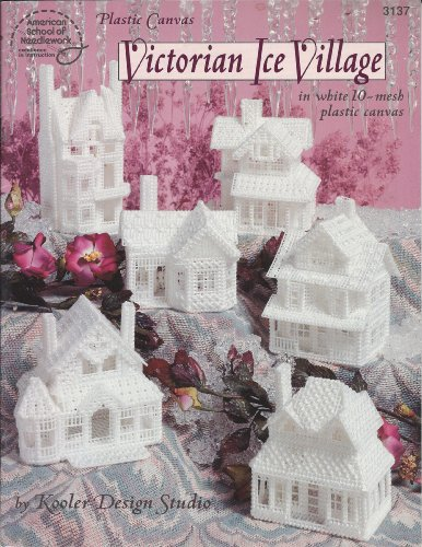 - Victorian Ice Village in White 10-mesh Plastic Canvas