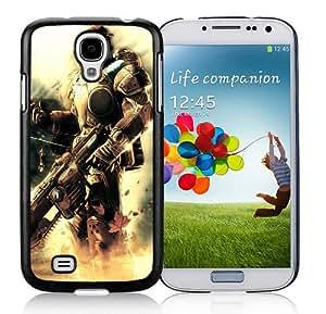 gears of war soldier gun light clouds marcus fenix Black Custom Phone Shell Samsung Galaxy S4 Case Cool Design