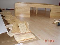 Links 30400650 Bett 180x200 cm Doppelbett Stauraumbett Funktionsbett ...