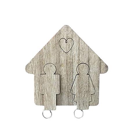 VORCOOL Llavero de parejas Llavero Parejas personalizadas Colgantes clave para el Día de San Valentín (Marrón)