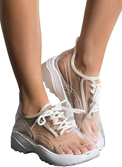 Chunky Sole Sneaker Trainers-Clear_8