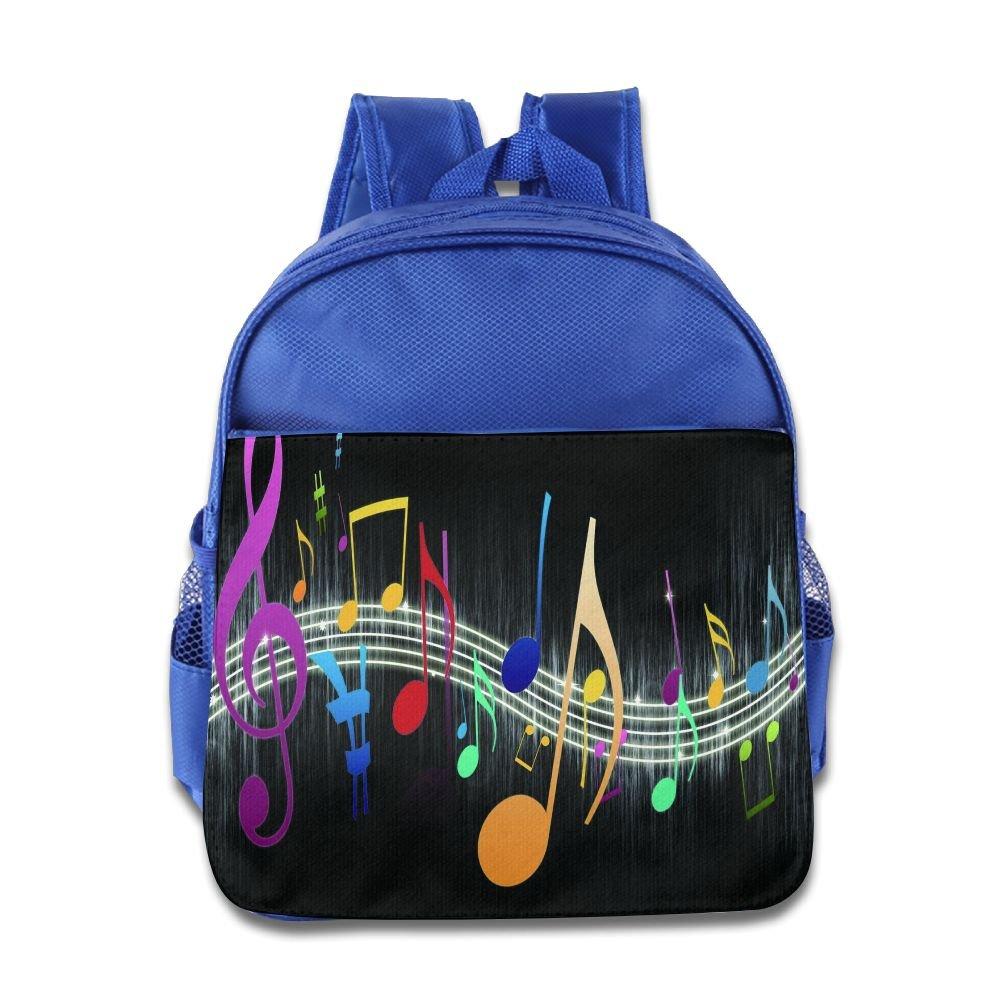 KEPan Lightweight Bookbag Colorful Music Notes Kids Backpack Outdoor Daypack good