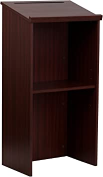 Amazon Com Adiroffice Mahogany Stand Up Floor Standing Podium