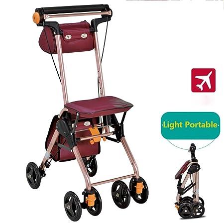 EGCLJ El Andador De Ruedas Plegable For Ancianos Puede ...