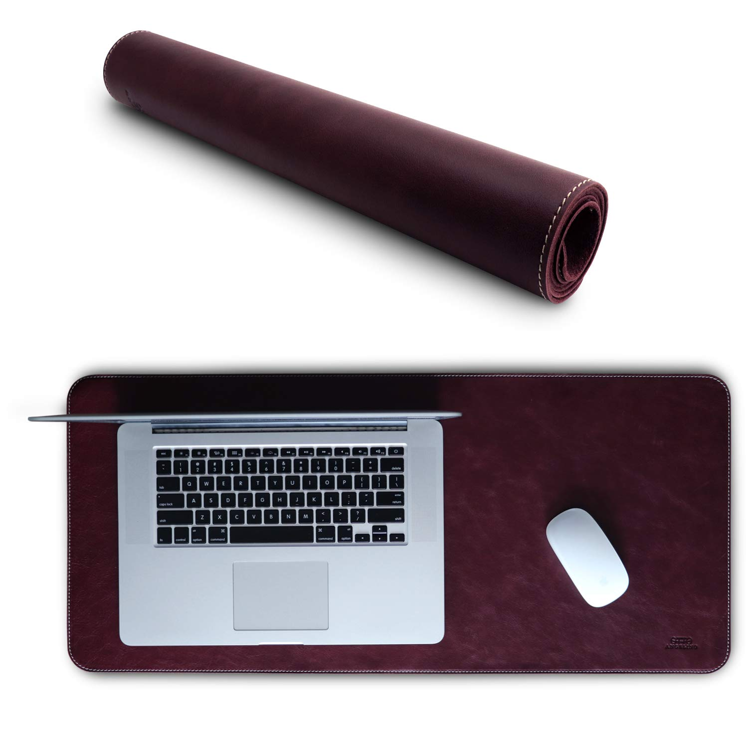 Londo Leather Extended Mouse Pad (Genuine Leather) (Damson)