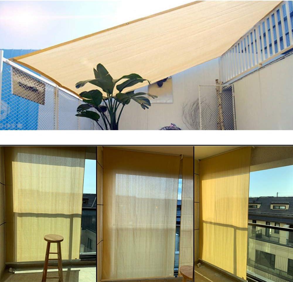 XYNH - Toldo rectangular transpirable para sombra, 85 %, para jardín, balcón, terraza, crema, toldo para balcón, sin agujeros, color beige, W 250 x L 450-cm(8.2 x 14.8-Feet): Amazon.es: Jardín