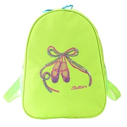 The Best Cute Little Girls Children Kids Students School Ballet Gym Dance Bag Embroidered Ballerina Dancing Shoulder Dancer Backpack Bag Low Price Luggage & Bags