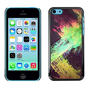 PC/Aluminum Funda Carcasa protectora para Apple Iphone 5C green splatter paint street art yellow / JUSTGO PHONE PROTECTOR