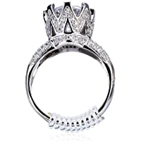 Diames Ring Size Adjuster With Jewelry Polishing Cloth, Perfect For Loose Rings, Set of 12