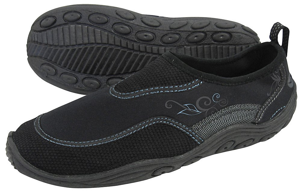Aqua Lung Sport Women's Seaboard Watershoe (5 US, Black/Powder)