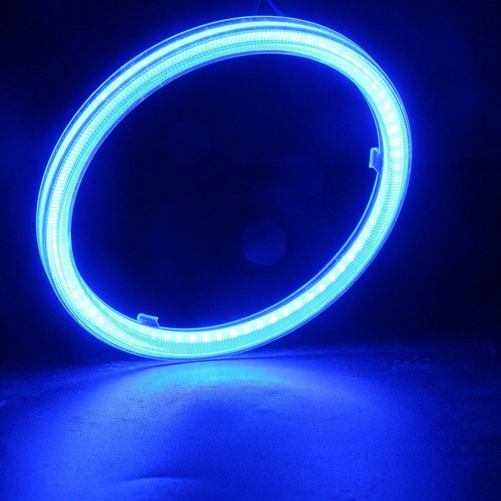 70 mm 60SMD COB LED lampadina fari Angel Eyes Halo Anello Lampada con il riflettore 2 pezzi corrente costante Rosso-60MM 9 /¨C 30 V Grandview 1 paio