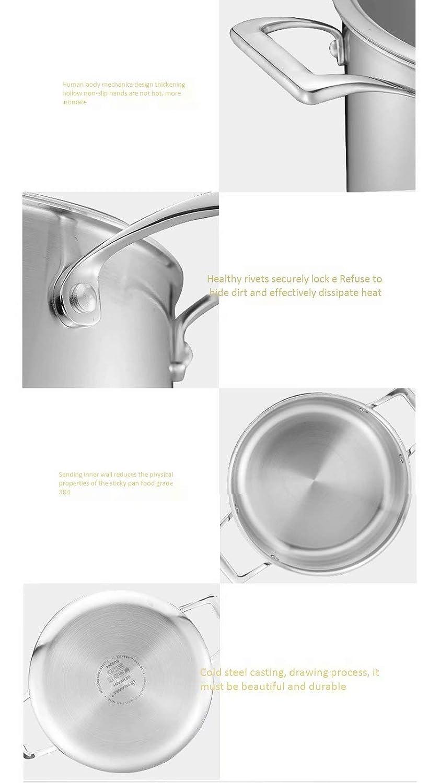 XT - Olla de Acero Inoxidable, Olla de 304, hogar, Cocina de ...