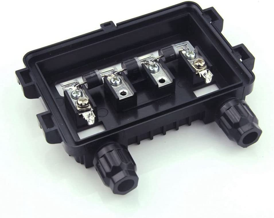 VIKOCELL Solar Cable Entry Box PV Solar Junction Box Waterproof IP65 for Solar Panel 100W-1