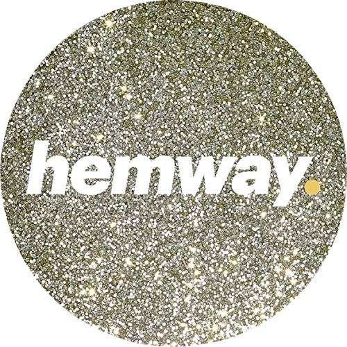 Hemway Sand Gold Premium Glitter Multi Purpose Dust Powder 100g/3.5oz for use with Arts & Crafts Wine Glass Decoration Weddings Cards Flowers Cosmetic Face Eye Body Nails Skin Hair ()