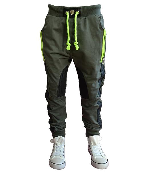 online Shop neue sorten verkauf usa online M-72 Schwarz/Grün SQUARED&CUBED Jogginghose Freizeit Sport ...