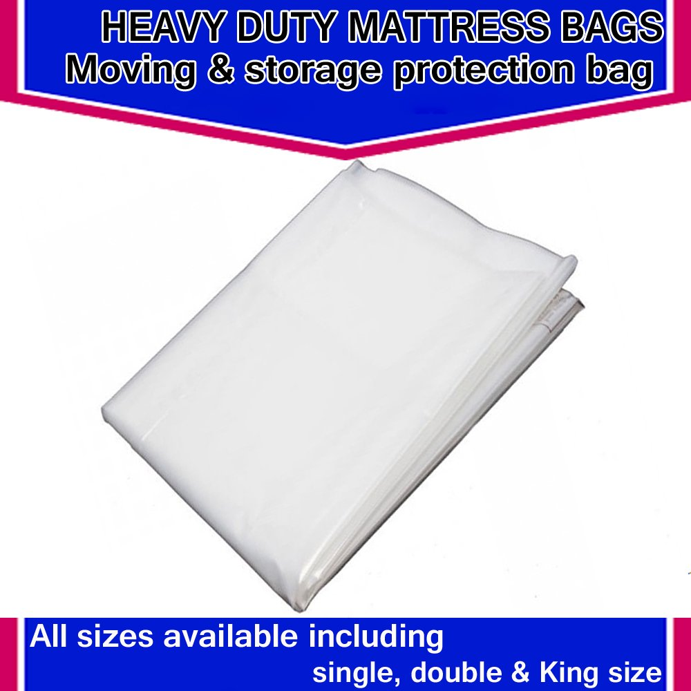 5FT POLYTHENE PLASTIC PROTECTOR 4FT 6 *BRAND NEW* MATTRESS BAGS 3FT