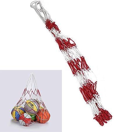 YILONG Grande Sport con la Palla a Cerchio della Rete della Maglia 10 Palle Carry Bag Netto Basket Calcio