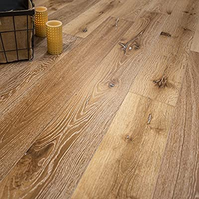 "Wide Plank 7 1/2"" x 5/8"" European French Oak (Idaho) Prefinished Engineered Wood Flooring Sample at Discount Prices by Hurst Hardwoods"