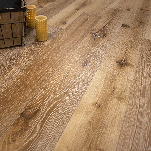 Wide Plank 7 1/2 x 5/8 European French Oak (Idaho) Prefinished Engineered Wood Flooring Sample at Discount Prices by Hurst Hardwoods