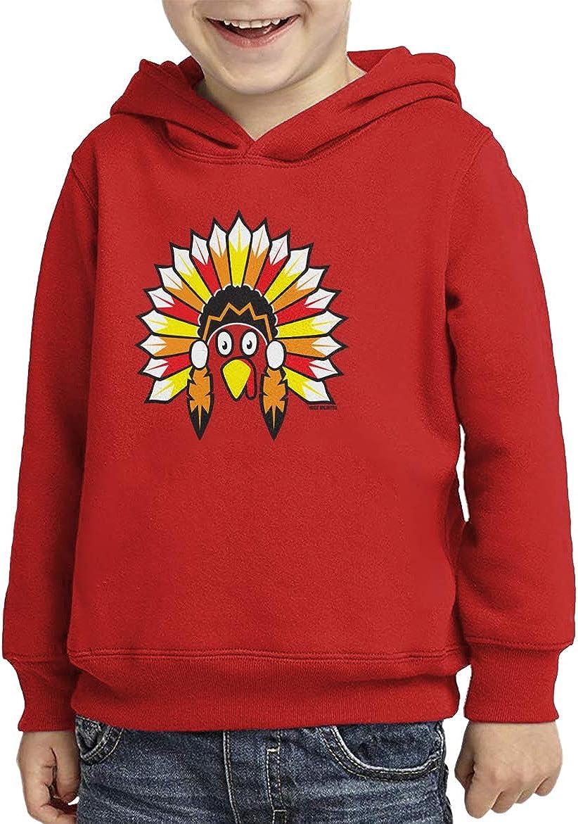 Native American Turkey Headdress Toddler//Youth Fleece Hoodie
