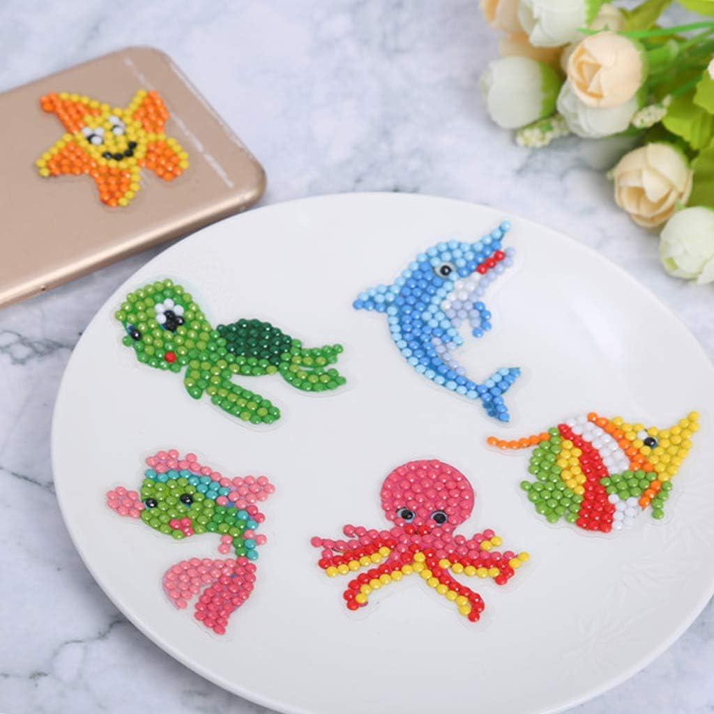 Peinture Animale avec Diamants pour Adultes d/ébutants kit de Peinture /à Diamants S-TROUBLE 19 pi/èces de Peinture Diamant pour Enfants 5D