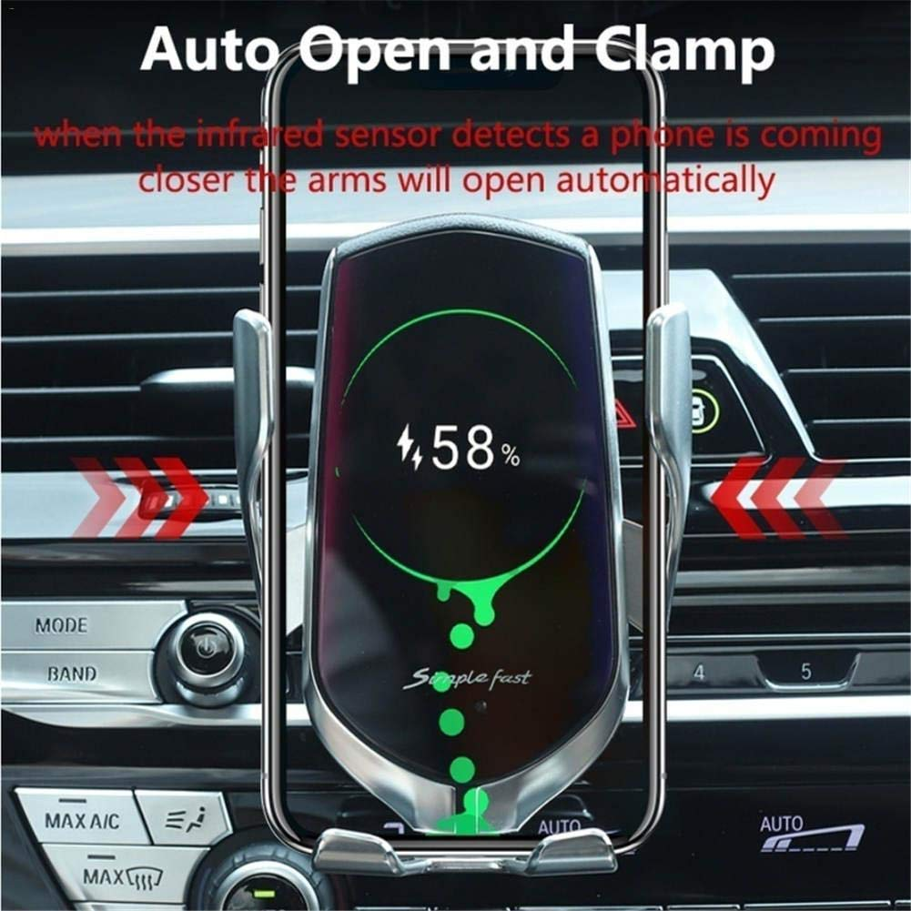 BETTERSHOP/™ QI-Certified Wireless Car Charger Quick Charge 10W und Telefon-Support, kompatibel mit iPhone XS//Xr//X // 8//8 Plus, Samsung Note 5//8, Galaxy S9 // S8 // S7 // S6 Edge +