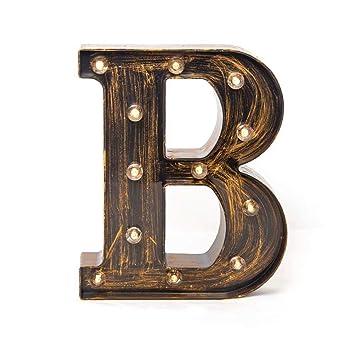 Amazon.com: Glintee - Letra LED con 26 letras del alfabeto ...