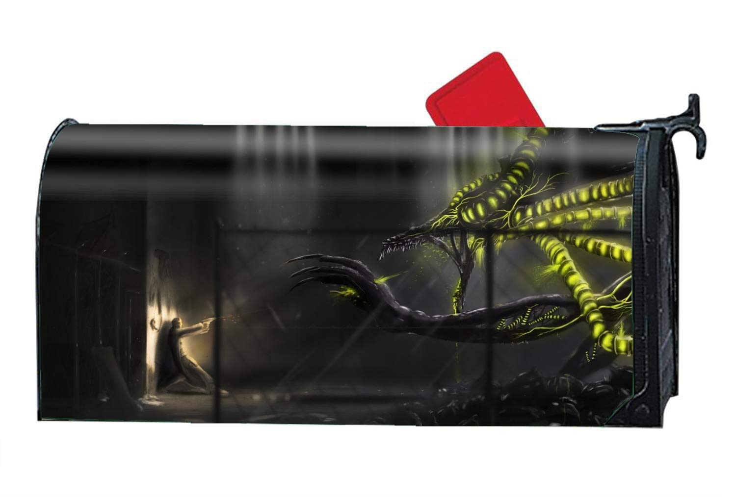 FunnyLife Dark Monster Weapon Man Magnetic Mailbox Cover Customized Mailbox Makeover