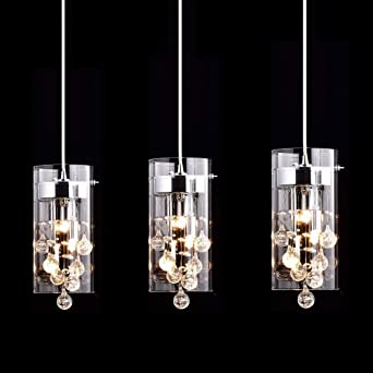 Pendant Lighting Images To Claxy Ecopower Lighting Glass u0026 Crystal Pendant Modern Chandelier For Kitchen3 Lights