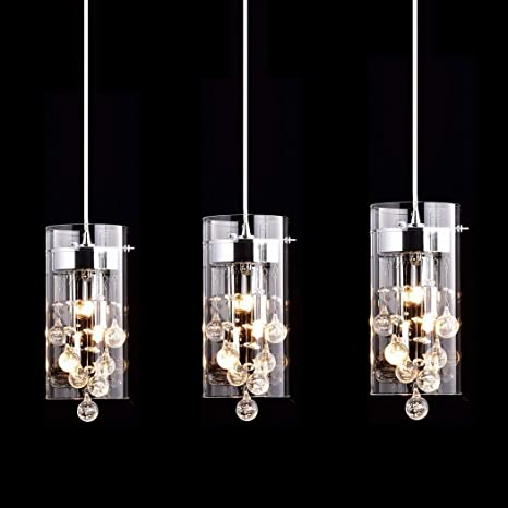 CLAXY Ecopower Lighting Glass & Crystal Pendant Lighting ...