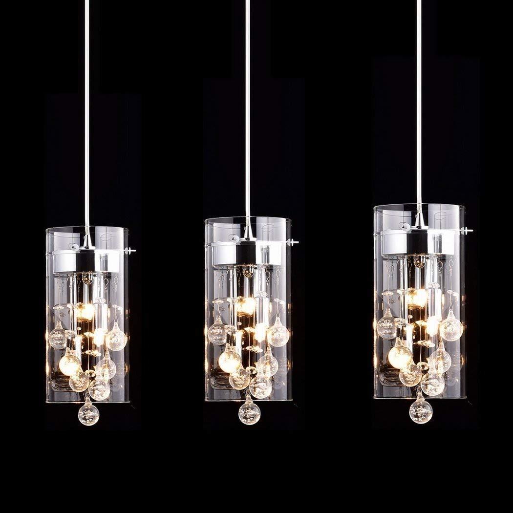 CLAXY Ecopower Lighting Glass & Crystal Pendant Lighting