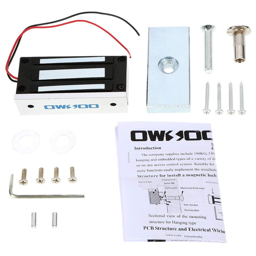 Festnight OWSOO Magnetschloss Elektrisch 60KG 132lbs Fail Safe NC Modus F/ür T/ürzugriffskontrollsystem T/ür Access Control System