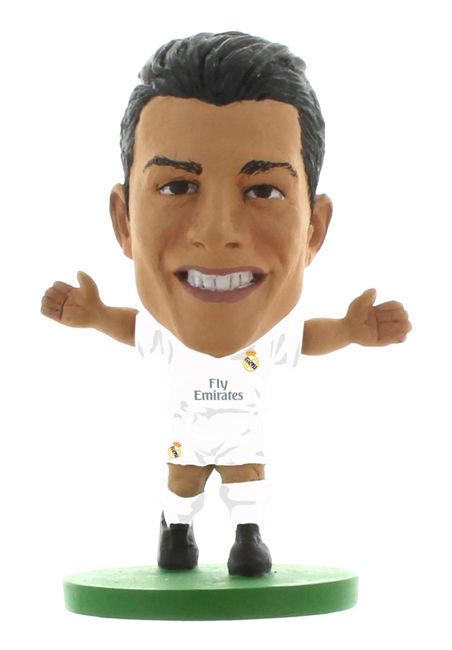 Soccerstarz La Licencia Oficial Real Madrid Cristiano Ronaldo Figura en el Kit de Inicio (Blanco / Negro / Oro) Creative Toys Company SOC126