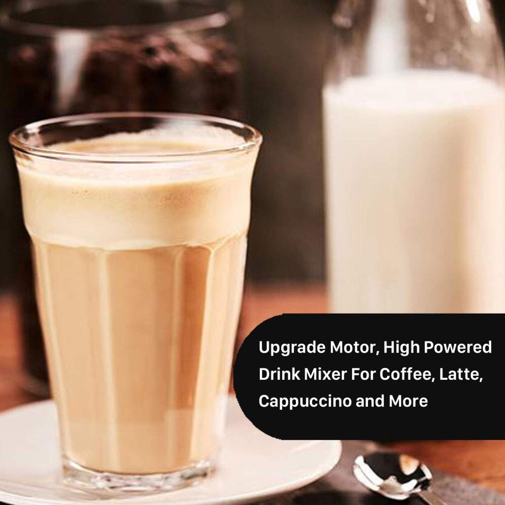 Latte Milk Streamer Drink Mixer With Double Stainless Steel Whisk JMGAN Milk Frother Handheld Automatic Foam Maker For Coffee Cappuccino Hot Chocolate