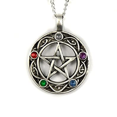 Mystical magical pewter pentacle of life on a 18 chain necklace mystical magical pewter pentacle of life on a 18quot chain necklace aloadofball Images