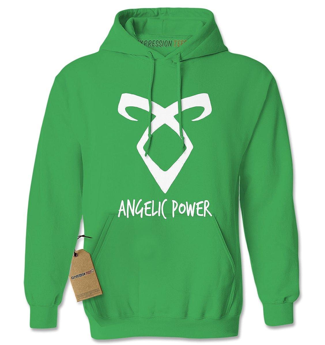Expression Tees Angelic Power Rune Enkeli Unisex Adult Hoodie 1842-H