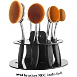 DSCbeauty 10 Holes Oval Makeup Brush Set Holder Toothbrush Makeup Brush Kit Drying Rack Oval Brushes Organizer