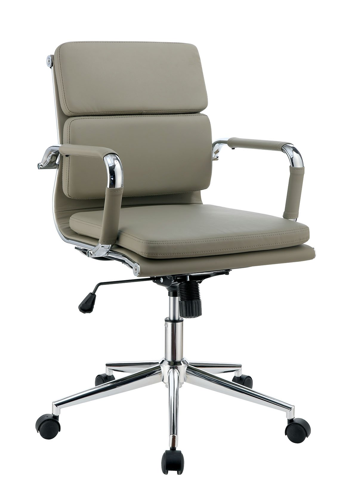 HOMES: Inside + Out IDF-FC636BR-S Azurite Low Back Leatherette Office Chair, Small, Brown
