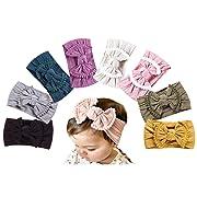 DANMY Baby Girl Nylon Headbands Newborn Infant Toddler Hairbands and Bows Child Hair Accessories (Nylon Printing (8pcs))