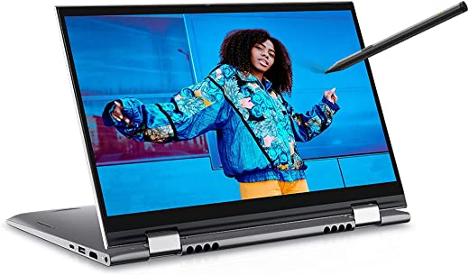 """Dell 14 (2021) i3-1125G4 2in1 Touch Screen Laptop, 8Gb RAM, 512Gb SSD, 14"""" (35.56 cms) FHD Display, Win 10 + MSO, Backlit KB + FPR + Active Pen, Silver Metal Color (Inspiron 5410, D560466WIN9S)"""