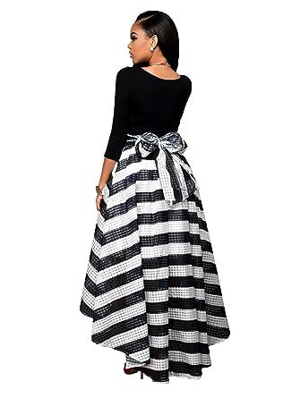 MASHIKOU Damen Vintage 1950er Zwei Stück 3/4 Sleeve Top High Low ...