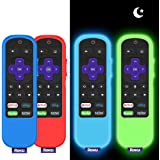4 Pack Protective Case for TCL Roku TV Steaming Stick 3600R/3800/3900 Remote,Silicone Cover Roku Voice/Express/Premiere…