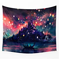 POTENCO Ocean Tapestry Wall Hanging Landscape Tapestries Polyester Seaview Blankets for Home and Office