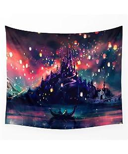 POTENCO Stars Pattern Tapestry Wall Hanging Sandy Beach Throw Rug Blanket Camping Tent Travel Mattress Bohemian Sleeping Pad (S9)