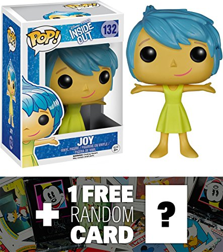 Joy: Funko POP! x Disney Pixar - Inside Out Vinyl Figure + 1 FREE Classic Disney Trading Card Bundle [48730]