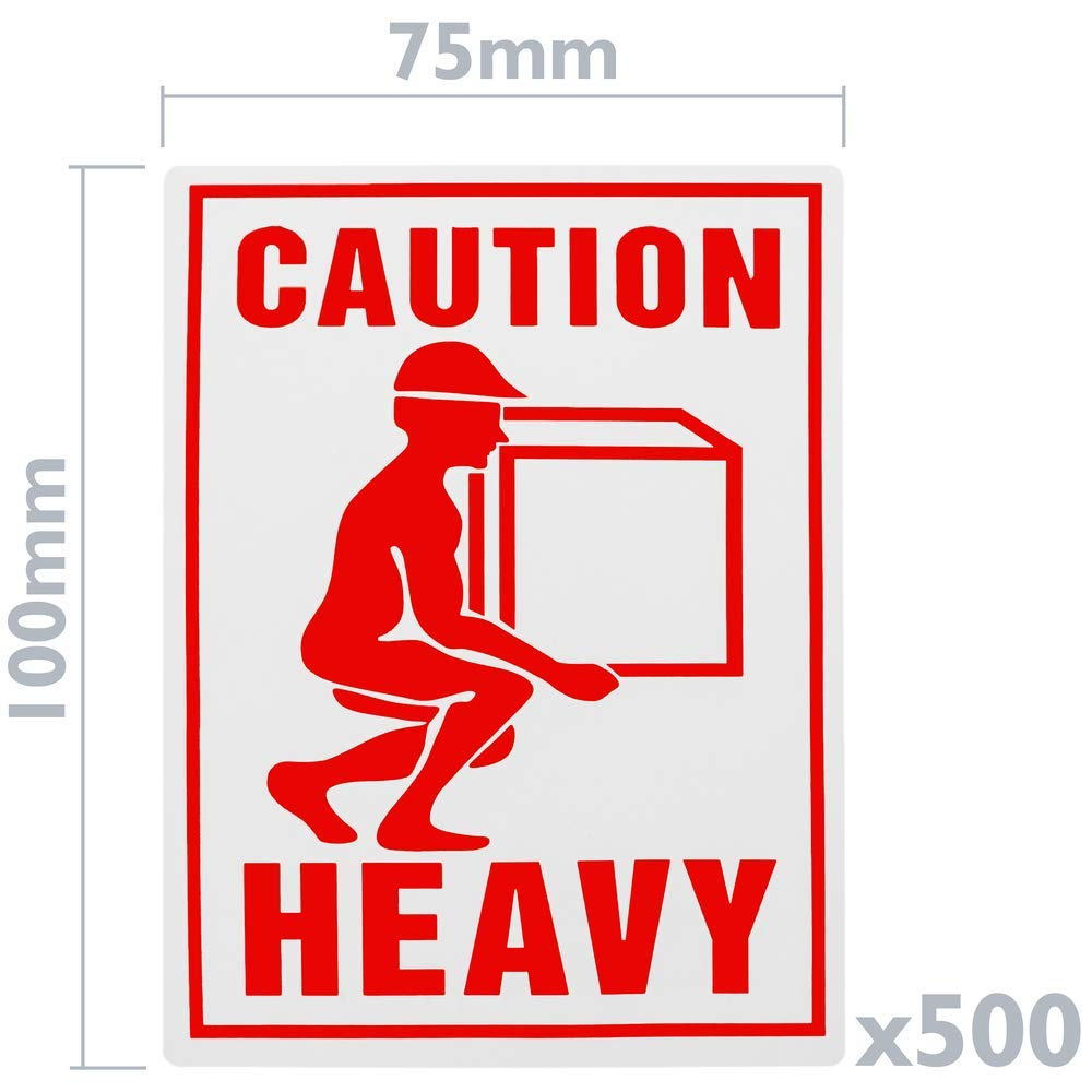 BeMatik Rouleaux Bobine 500 /étiquettes pour Les envois de Colis Lourds 75x100 mm Heavy