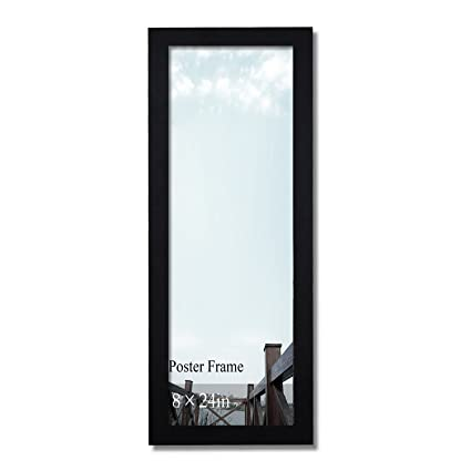 Amazon.com - Adeco 8x24 Decorative Black Wood Wide Margin (1.25 inch ...