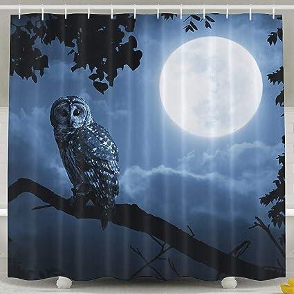 Amazon Com Yeeatz Shower Curtain Owl Bathroom Decor Set